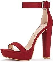 Allegra K Women's Ankle Strap Platform High Heels