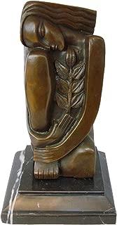 Toperkin Abstract Sculpture Bronze Female Statue Metal Figurine