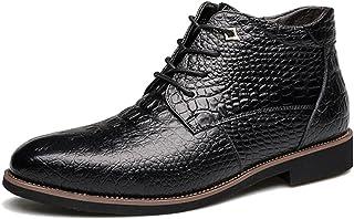 gracosy BottesCuir Homme, ChaussuresdeVille Classiques en Cuir à Lacets BottinesHiver Fourrées Homme FormellesavecDo...