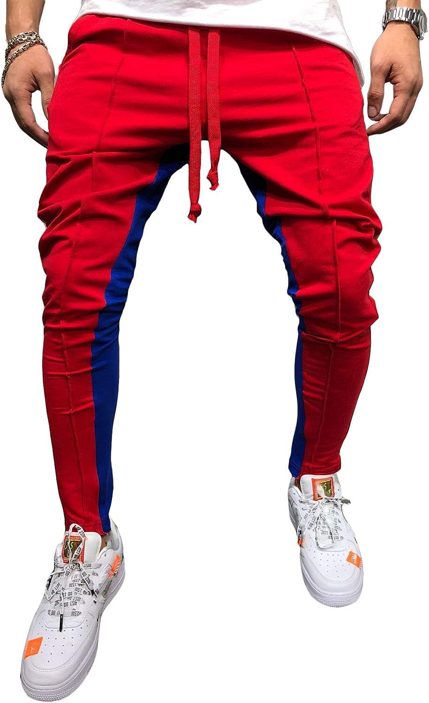 do.Cross Mens Striped Ranking New life TOP1 Drawstring Running Pants Hipster Jogger Hi