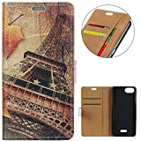 KM-WEN® Case for Wiko Tommy 3 (5.45 Inch) Book Style Maple