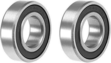 uxcell 6003-2RS Deep Groove Ball Bearing 17x35x10mm Double Sealed ABEC-3 Bearings 2-Pack