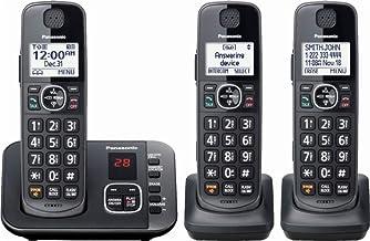 Panasonic - KX-TGE633M DECT 6.0 Expandable Cordless Phone System Digital Answering System - Metallic Black photo