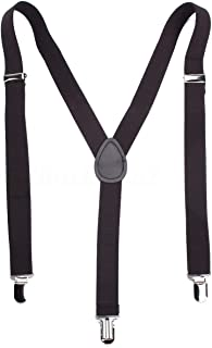 Boolavard  TM Clip-on regolabili Pantaloni Unisex Uomo Donna completamente elastico Y-back bretella bretelle