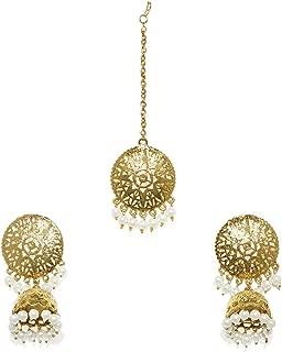 Zaveri Pearls Traditional Jewellery Set for Women (Golden) (ZPFK7633)