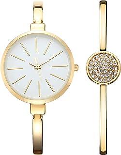 NUOVO Reloj de mujer 3ATM resistente al agua reloj de cuarzo con esfera analógica grande y pulsera de aleación de diamante...