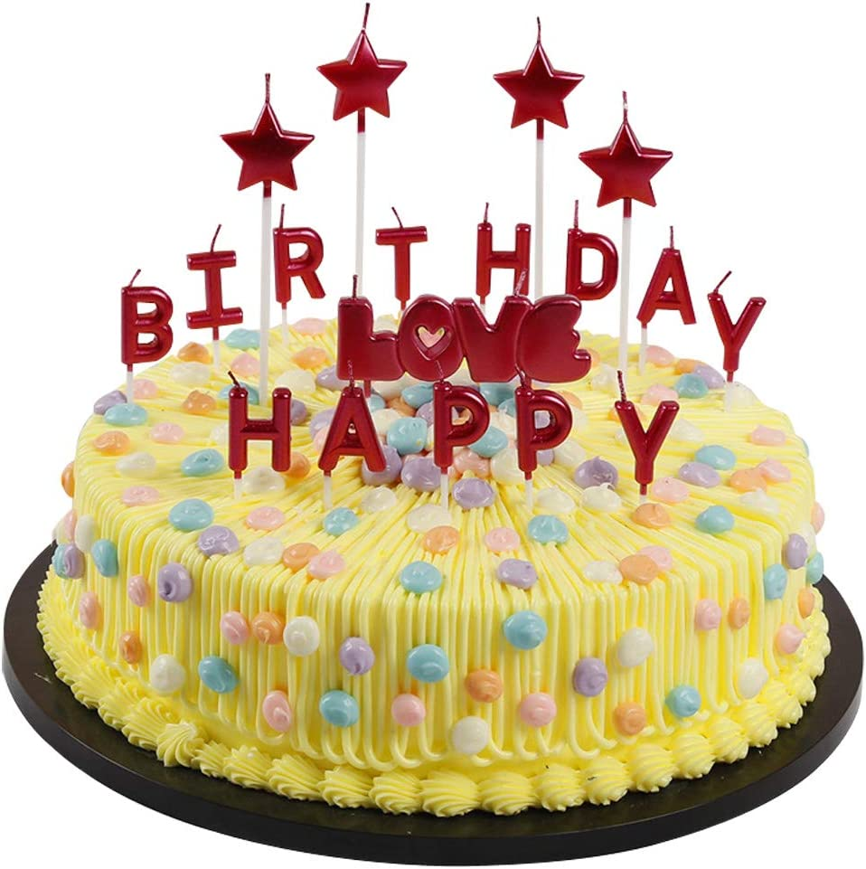 T-shin Happy supreme Birthday Letter Max 59% OFF Candles Candl Cake