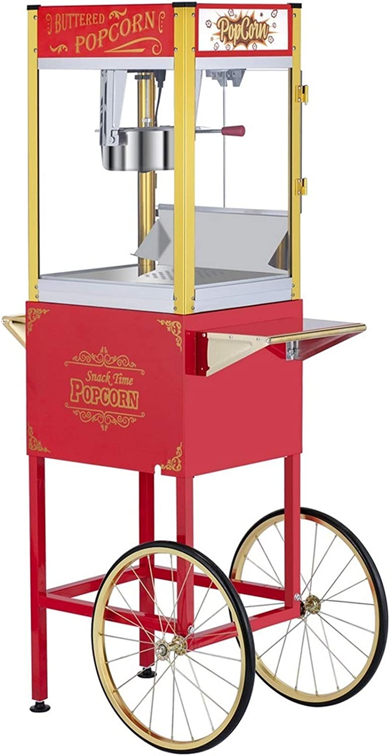 H.ZHOU AC 120V-60Hz Max 85% OFF 850W 8 Safety and trust Ounce cart Fa with for Popcorn Maker
