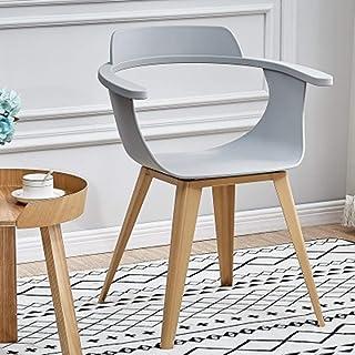 QFWM Sillas de Comedor Inicio Silla Moderna Simple Silla de Comedor for la Sala de Estar y Comedor Cocina Comedor Muebles (Color : Gray, Size : 50x77x44cm)