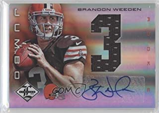 Brandon Weeden #18/49 (Football Card) 2012 Limited - Rookie Jumbo Materials - Jersey Numbers Signatures [Autographed] #6