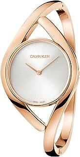 Calvin Klein Party Medium Silver Dial Bangle Ladies Watch K8U2M616