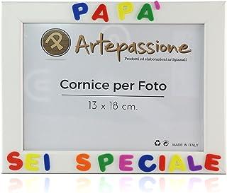 Cornici per foto in legno con la scritta Papà Sei Speciale, da appoggiare o appendere, misura 13x18 cm Bianca. Ideale per ...