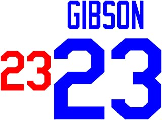 Kirk Gibson Los Angeles Dodgers Jersey Number Kit, Authentic Home Jersey Any Name or Number Available