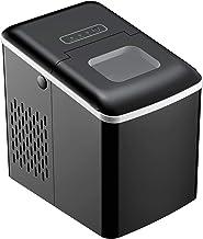 Machine à glaçon 120 W - capacité réservoir eau 1,8 L - capacité réservoir glace 0,8 Kg - cuillère et panier inclus - PP noir