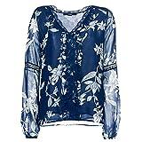 Guess Vanesa Blusa, Blu (Oriental Dream Blue Pg71), Medium (Taglia Produttore:M) Donna