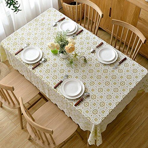 Eenvoudige en moderne verdikking tafelkleed van kant, tafelloper van stof, tafelkleed van stof, paars, 5 punten, stergroen, 80 x 80 cm