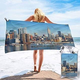 "Ahuimin Quick Dry Beach Towel, New York,Urban City Skyline, 27.5"" x 55"" Super Absorbent Lightweight Microfiber Bath Towels for Travel Pool Gym"