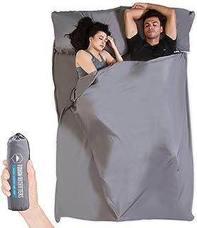 Sleeping Bag Liner -Camping Sheet Travel Bed Sack - XL Lightweight Camp Bag Linersfor Adults - forHotels, Hostels, Trav...