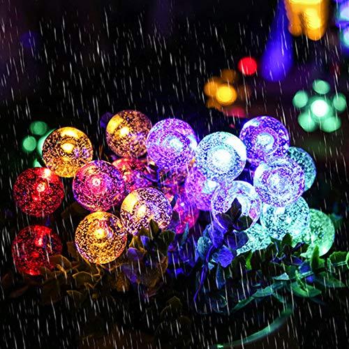 VISLONE Solar Lampenschnur 1.8CM Bubble Bulb Lamp String IPX4 2/8 Beleuchtungsmodi 5/6.5/7 / 9.5/12 / 22M 20/30/50/100 / 200LED