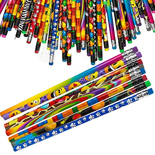 Kicko Pencil Assortment - 144 Pack - Assorted Colorful Pencils - for Party Favors, School Supply, Writing Material, Fidget, Arts and Crafts Novelty, and Gift Ideas - 7.5 Inches