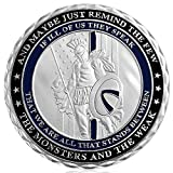US Thin Blue Line Police Officers Spartan Warriors Challenge Coin Law Enforcement Collection Souvenir Decoration Gift
