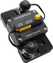 Perfk 50Amp Waterproof Circuit Breaker with Manual Reset for Amps Protection Marine Trolling Motors Boat ATV Manual Power 12V-24V DC