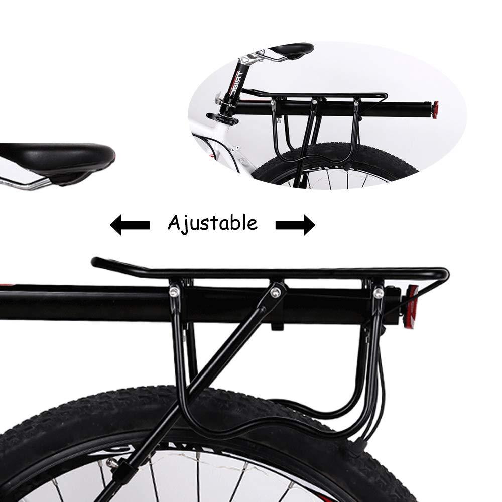 Gindoly Portaequipajes Trasero Bicicleta Accesorios Ajustable Soporte Aleación de Aluminio MTB con Reflector: Amazon.es: Deportes y aire libre
