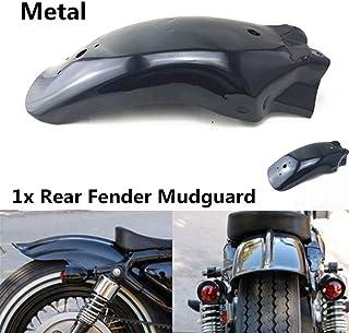 PJhao Universal Metall Motorrad hinten Fender Schutzblech Kotflügel modifiziert Rennrad Schutzblech Schwarz