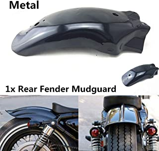 Lisyline Black Metal Motorcycle Rear Fender Mudguard Guard For Harley Honda KTM Suzuki Kawasai Yamaha Custom
