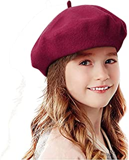 Unisex Red Beret Hat Mens Womens Round French Style Cap Halloween Costume NEW