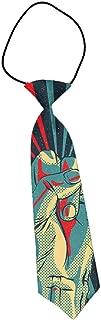 MrDecor Kids Boys Portable Elastic Tie Slim Necktie Rock N Roll Costume Accessories