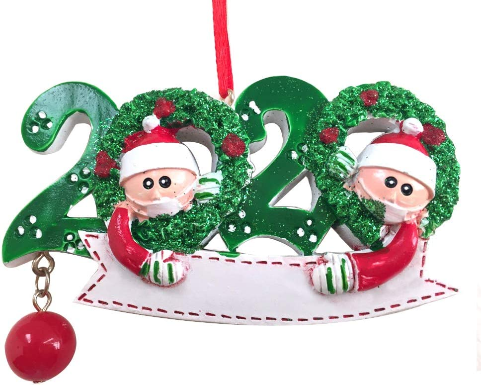 2020 Christmas Tree Hanging Ornaments Santa Mask Decor Creative Meaning health