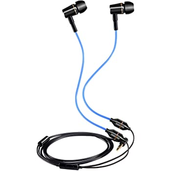 KINDEN Air Tube Earbuds Radiation Free Headphone Binaural Earphones with Microphone for Phone, Pad, Pod,Samsung Galaxy,HTC,Sony,Mp3 Players