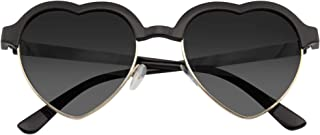 Emblem Eyewear - Inspiré De Mignon Vintage Demi-Trame Lunettes De Soleil Forme Coeur