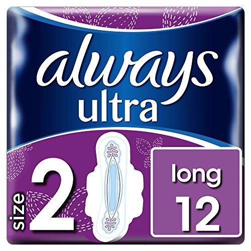 Always Ultra Long Damenbinden, mit Flügel, 12Stück