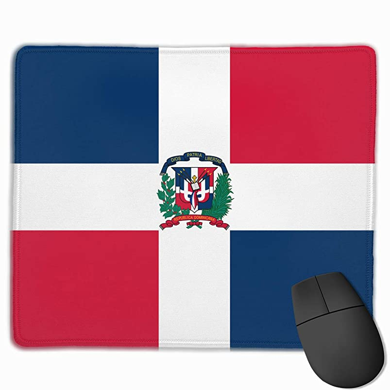 Flag of Dominican Republic Non-Skid Personalized Designs Gaming Mouse Pad Black Cloth Rectangle Mousepad Art Natural Rubber Mouse Mat with Stitched Edges 9.811.8 Inch bmhkearq270355