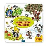 Trötsch Der kleine Maulwurf Jahreszeitenmalbuch Sticker und Malbuch: Beschäftigungsbuch Stickerbuch Malbuch