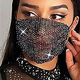 Sethexy Brillante Máscara de malla Diamante de imitación Mascarada Bola de cristal...