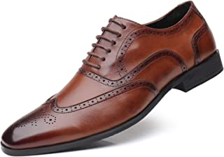 Zapatos casuales Zapatos de cuero para hombres, cordones de cuero PU, pulido, tacón de punta redondo tacón de color sólido...