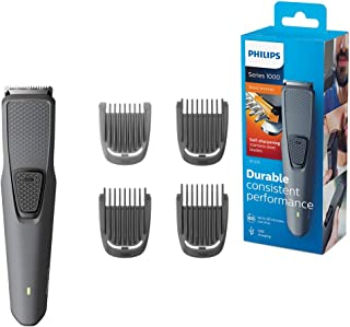 Philips Beard and Stubble Trimmer for Men, Series 1000, 4 Length Settings, 60 mins Run Time, Self-Sharpening Blades, USB C...