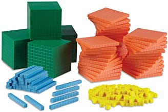 hand2mind Differentiated Base Ten Blocks, Class Set of 488, Includes 4 Base Ten Place Value Mats