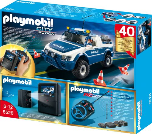 Playmobil 5528 - RC-Polizeiauto mit Kamera-Set