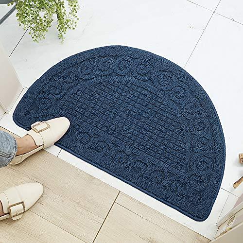 V-HANVER TPR Semicircular Antideslizante Felpudo, Entrada Doormats, Impermeable Alfombra, Decorativo Dormitorio, Resistente Mats, Absorbente Alfombrilla 48X78CM