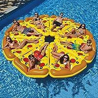 浮き輪 大人と子供のための,レジャープール ラウンジ,夏対策 水遊びおもちゃ 親子遊び 楽しいおもちゃ カップホルダー付き,巨大なピザプールラフト,ウォーターハンモック A 1ピース