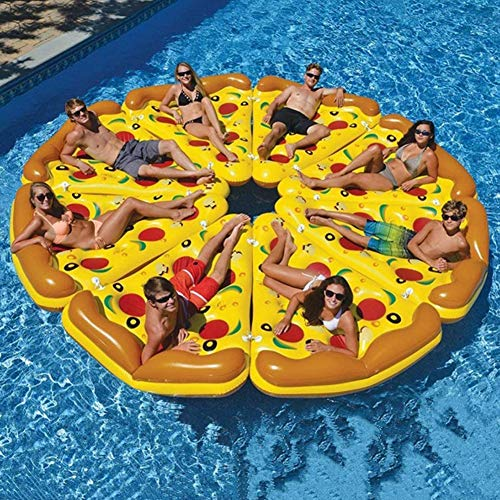 YB&GQ Inflatable Pool Float for Adults & Kids,Swimming Pool Lounge,Summer Water Party Fun Toys with Cup Holder,Giant Pizza Pool Raft,Water Hammock A 1-Piece