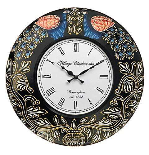 RoyalsCart Floral Design Painting Analog Wall Clock [KTWC288N]