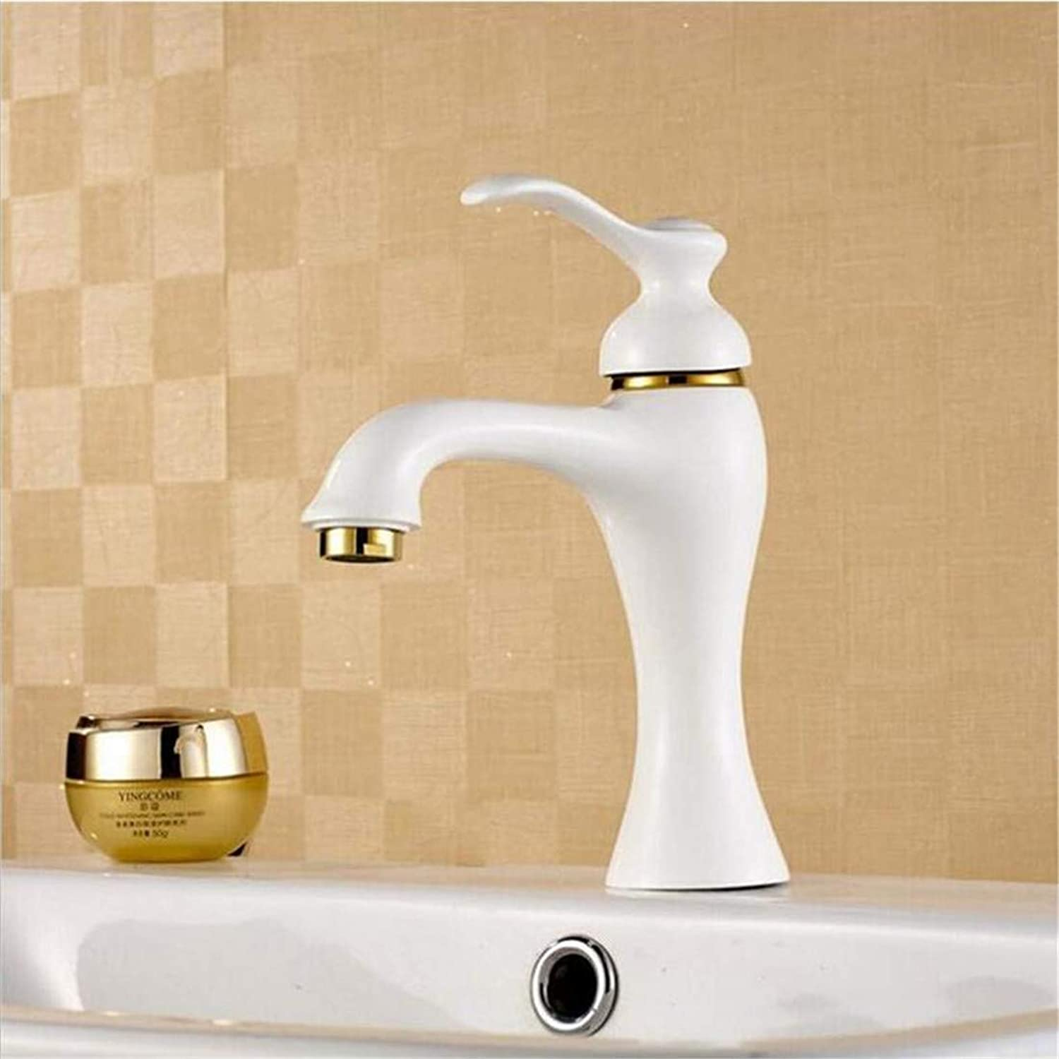 Stainless Steel Vintage Brassbathroom Products Bathroom Sets Copper Faucet Supply Basin Faucet Paint White Leader