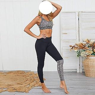 أطقم اليوغا للنساء للياقة البدنية ملابس جري ملابس رياضية رياضية مثيرة بدلة رياضية لممارسة الرياضة (الحجم: رمز M )