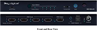 Key Digital KD-S4x1X 4x1 (4K/60Hz/18G/444) HDMI Switcher with L/R Optical Audio and De-Embedded Audio Output