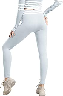 Aokarry Stretchy High Waist Workout Yoga Pants for Women Flexible Solid Color